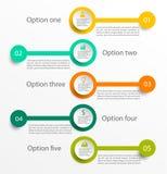 Infographic Szablon Fotografia Stock