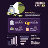 Infographic Szablon Zdjęcie Stock
