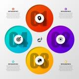 Infographic Szablon Biznesowy pojęcie z 4 opcjami wektor Fotografia Royalty Free
