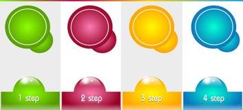 Infographic szablon dla Cztery kroków royalty ilustracja