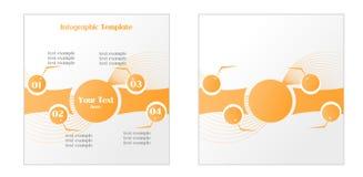 Infographic szablon dla Cztery kroków ilustracji