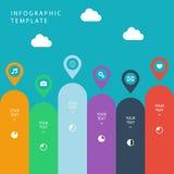 Infographic szablon dla praca przepływu układu, diagram, numerowe opcje, sieć projekt, prezentacja Obraz Royalty Free