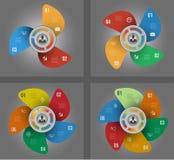 Infographic Szablon Projekta pojęcie dla prezentaci lub diagrama eps10 kwiatów pomarańcze wzoru stebnowania rac ric zaszywanie pa Zdjęcia Stock