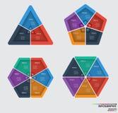 Infographic Szablon Projekta pojęcie dla prezentaci lub diagrama eps10 kwiatów pomarańcze wzoru stebnowania rac ric zaszywanie pa Obrazy Royalty Free