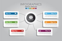 Infographic Szablon również zwrócić corel ilustracji wektora Zdjęcia Royalty Free