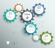 Infographic szablon z przekładniami, szablon dla biznesu ilustracji