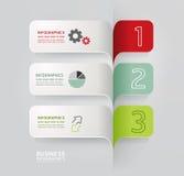 Infographic szablonu Nowożytnego projekta Minimalny styl Fotografia Stock