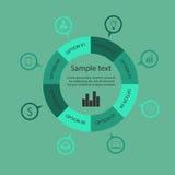 Infographic szablonu projekt Fotografia Royalty Free