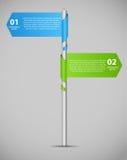 Infographic szablonu wektoru biznesowa ilustracja Zdjęcia Stock