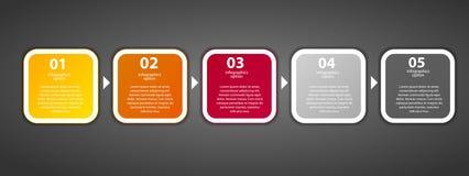 Infographic szablonu wektoru biznesowa ilustracja Fotografia Stock