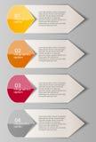 Infographic szablonu wektoru biznesowa ilustracja Fotografia Royalty Free