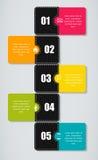 Infographic szablonu wektoru biznesowa ilustracja Zdjęcie Royalty Free