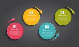 Infographic szablony dla Biznesowego wektoru Zdjęcie Stock