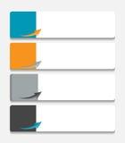 Infographic szablony dla Biznesowego wektoru Zdjęcia Stock