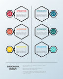Infographic sześciokąta szablon Zdjęcia Stock