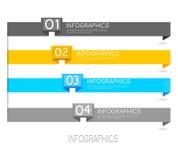 Infographic sztandaru projekta elementy Obrazy Royalty Free