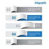 Infographic sztandaru projekta elementy Zdjęcie Royalty Free