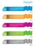 Infographic sztandaru projekta elementy Zdjęcia Royalty Free