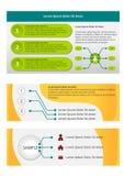 Infographic sztandaru szablon Obraz Stock