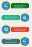 Infographic sztandaru szablon Zdjęcia Stock