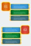 Infographic sztandaru szablon Obraz Royalty Free