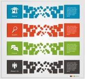 Infographic sztandary Zdjęcie Royalty Free