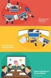 Infographic Tätigkeitsfahne des Geschäfts der Teamwork Stockbild