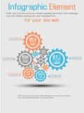 Infographic tła przekładnia Obraz Stock