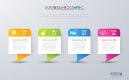 Infographic tab design vector and marketing template business. C. An be used for workflow layout, diagram, annual report, web design. Business concept with 4 Stock Photography