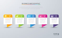 Infographic tab design vector and marketing template business. C Stock Photos