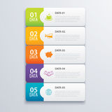 5 infographic tab index banner design vector and marketing. 5 infographic tab index banner design vector and marketing template business. Can be used for Stock Image