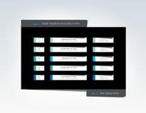 Infographic tabell, schema, mall med rad 5 Royaltyfri Bild