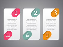 Infographic tags with cool icons and numbers Stock Photo