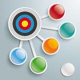Infographic Target 5 Connected Buttons Royalty Free Stock Photo