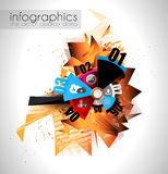 Infographic teamwork and brainstorming with Flat style. Royalty Free Stock Images