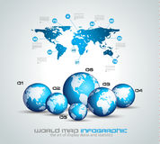 Infographic teamwork and brainstorming with World Map Stock Image