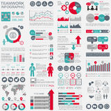 Infographic teamwork vector design template Royalty Free Stock Photography