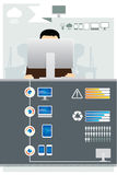 Infographic technologii komputeru set royalty ilustracja
