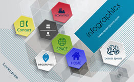 Infographic technology design template-poster template, brochure Stock Photo