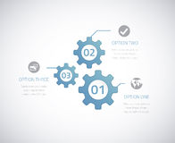 Infographic technology gears with option elements. Eps10 . Royalty Free Stock Images