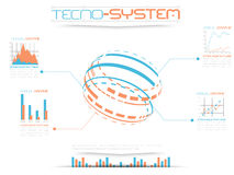 Infographic tecno system. For web Royalty Free Stock Images