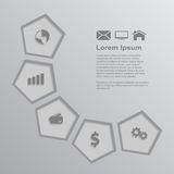 Infographic template Royalty Free Stock Image
