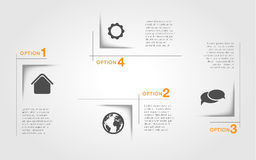 Infographic template, abstract squares, tags Stock Photo