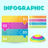 Infographic template 04. Infographic template for any presentation or business needs Royalty Free Stock Photo