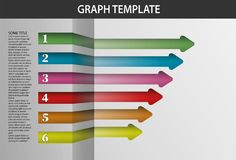 Infographic Template Arrows. Coloured info graphic with arrows on white background Royalty Free Stock Image