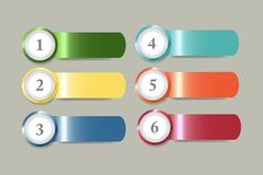 Infographic template as a color steel strips with numbers Royalty Free Stock Images
