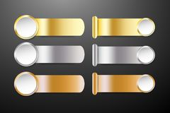 Infographic template as a golden, silver and bronzed steel strip Stock Photo