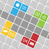 Infographic template background, squares Stock Photo
