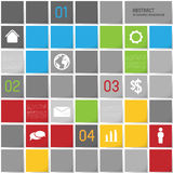 Infographic template background, squares Stock Photography