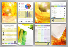 Infographic template backgrounds Stock Images